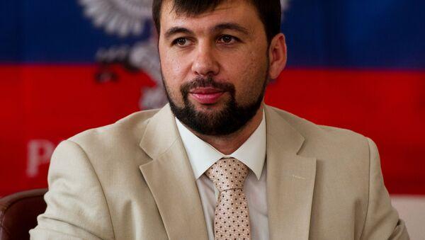 Pełnomocny przedstawiciel Donieckiej Republiki Ludowej na mińskich rozmowach Denis Puszylin - Sputnik Polska