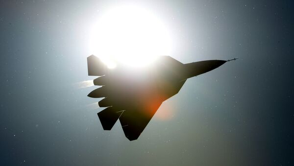 Rosyjski samolot myśliwski PAK FA T-50 - Sputnik Polska