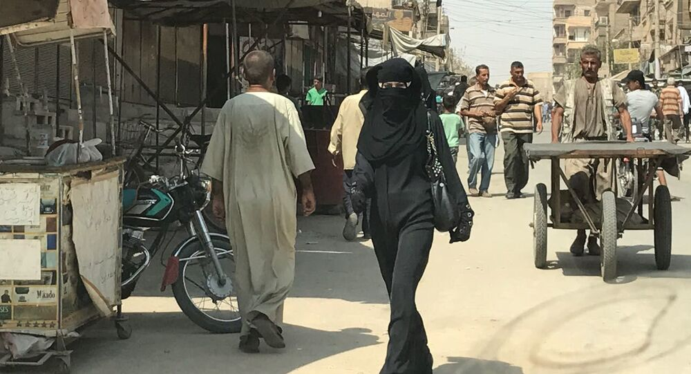 Na jednej z ulic w Dajr az-Zaur