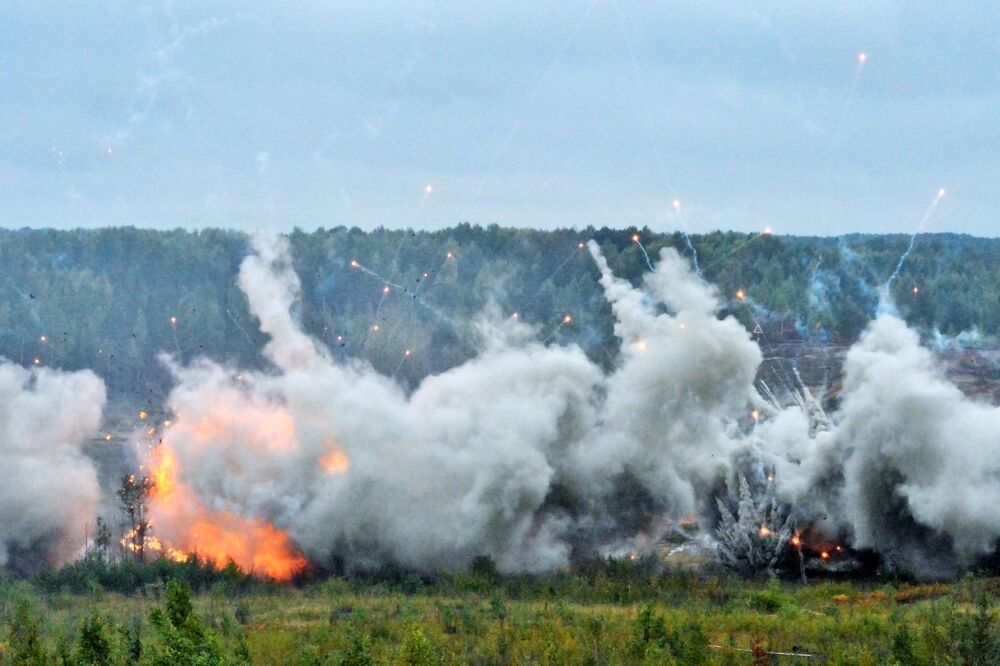 Ćwiczenia wojskowe w obwodzie leningradzkim