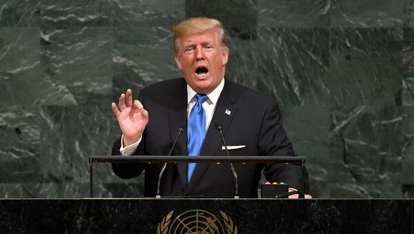 Президент США Дональд Трамп на заседании по реформе ООН в штаб-квартире организации в Нью-Йорке - Sputnik Polska