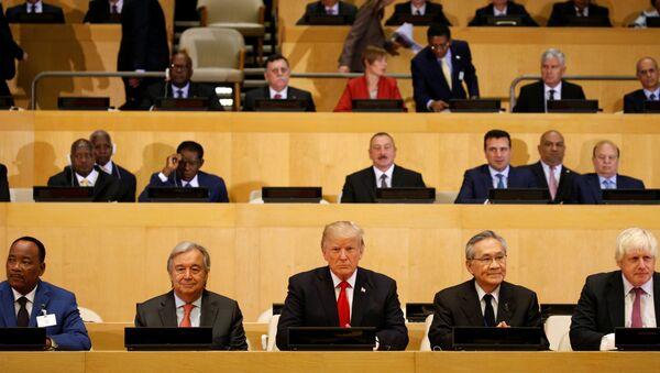 W Nowym Jorku kontynuowana jest 72. sesja Zgromadzenia Ogólnego ONZ. - Sputnik Polska