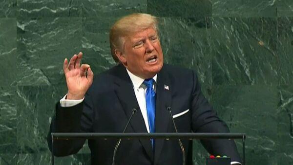 Przemówienie Trumpa na Zgromadzeniu Ogólnym ONZ - Sputnik Polska