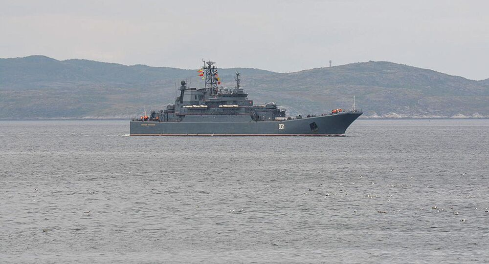 """Duży okręt desantowy Floty Północnej """"Aleksander Otrakowski"""""""