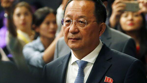 Minister spraw zagranicznych Korei Północnej Ri Yong Ho - Sputnik Polska