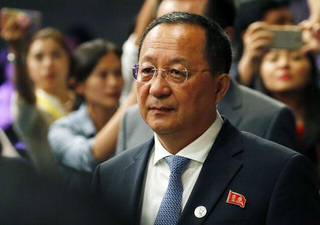 Minister spraw zagranicznych Korei Północnej Ri Yong Ho