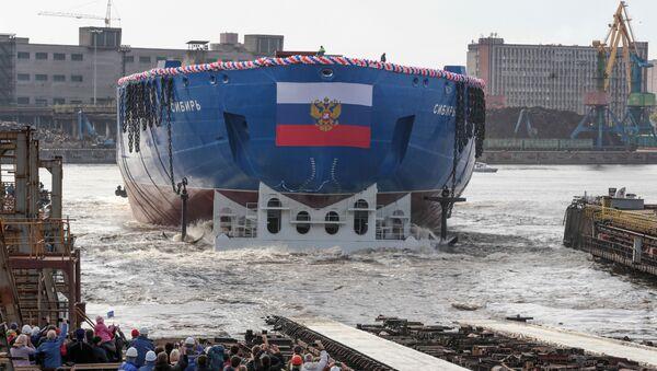 Rosja zwodowała najpotężniejszy na świecie lodołamacz - Sputnik Polska