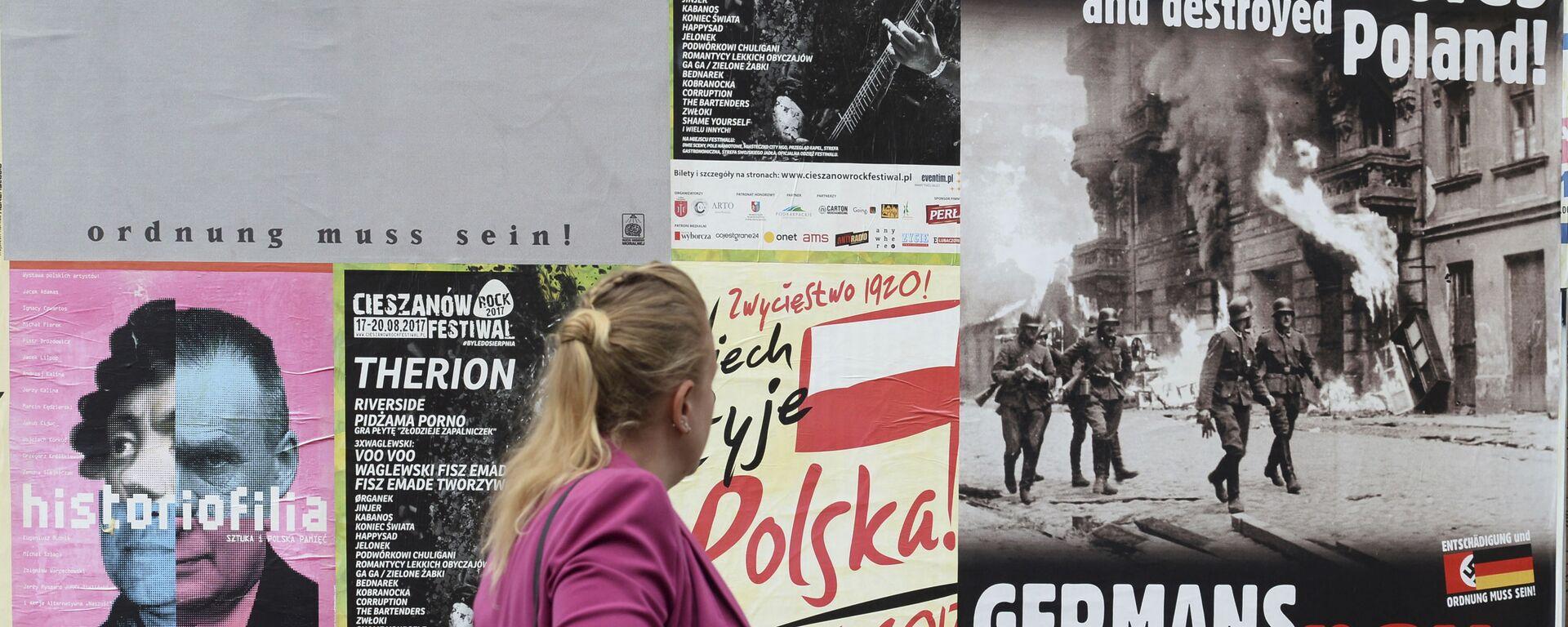 Plakaty z apelem o reparacje od Niemiec - Sputnik Polska, 1920, 15.06.2021