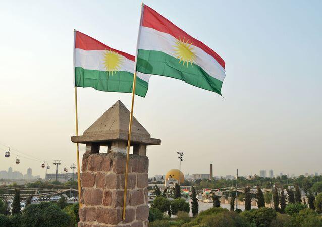Uroczystości świąteczne w przeddzień referendum ws. niezależności w stolicy irackiego Kurdystanu, Irbilu