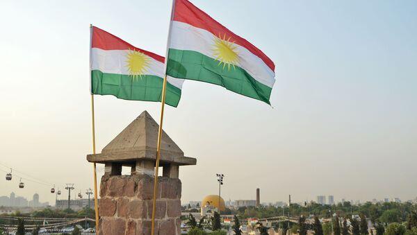 Uroczystości świąteczne w przeddzień referendum ws. niezależności w stolicy irackiego Kurdystanu, Irbilu - Sputnik Polska