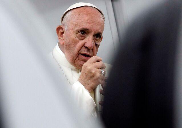 Papież Franciszek w czasie wizyty w Kolumbii