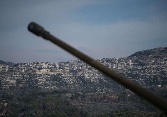 Pozycje syryjskiej armii w prowincji Idlib