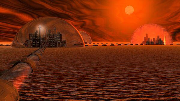 Koncepcja miasta na Marsie - Sputnik Polska