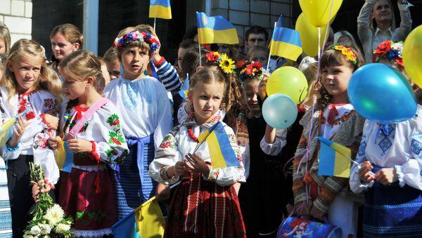 Początek roku szkolnego na Ukrainie - Sputnik Polska