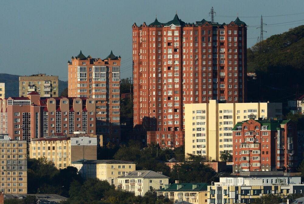 Osiedle w centrum Władywostoku