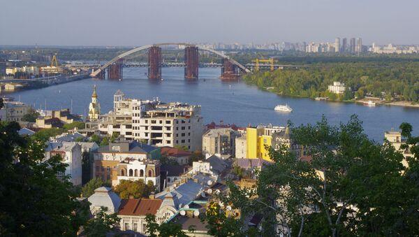 Widok na dzielnicę Padół w Kijowie - Sputnik Polska