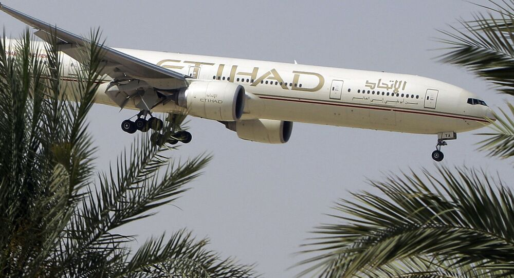 Samolot linii lotniczych Etihad Airways. Zdjęcie archiwalne