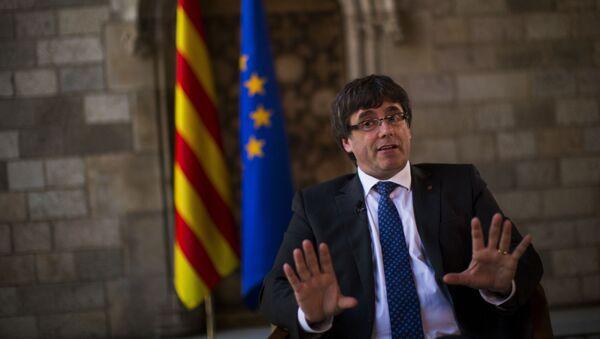 Były szef katalońskiego rządu Carles Puigdemont - Sputnik Polska