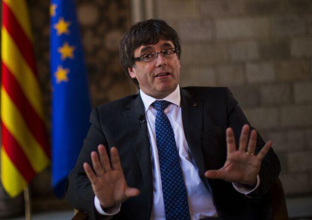 Były szef katalońskiego rządu Carles Puigdemont
