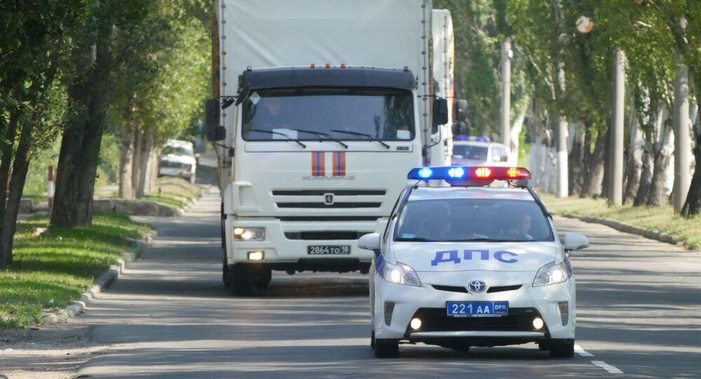 Kolumna humanitarna MSN Rosji z pomocą humanitarną dla mieszkańców Donbasu