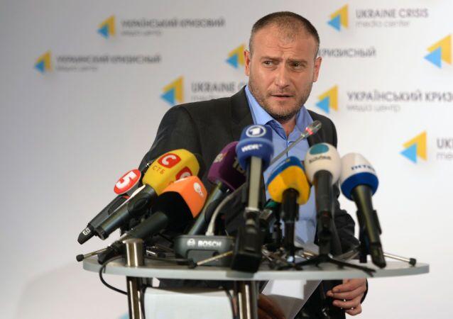 """Lider """"Prawego Sektora"""" Dmitrij Jarosz"""