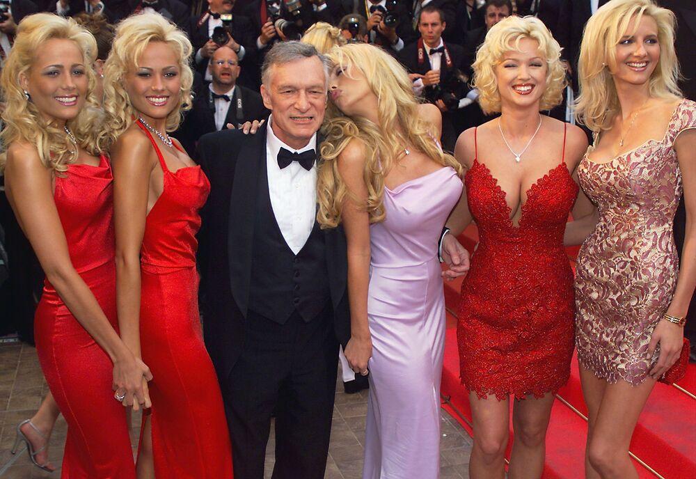 Założyciel magazynu Playboy Hugh Hefner podczas 52. Festiwalu Filmowego w Cannes