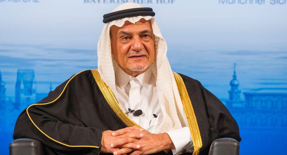 Książę Arabii Saudyjskiej Turki Al Faisal bin Abdulaziz Al Saud