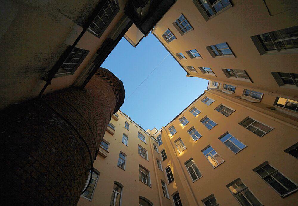 Dom aptekarza Wilhelma Pielja w Petersburgu którą nazywają Wieżą gryfów - właśnie tutaj aptekarz odkrył formułę szczęścia