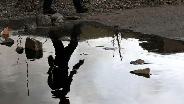 Szyby naftowe podpalone przez PI podczas wycofywania się z Qayary w Iraku - Sputnik Polska