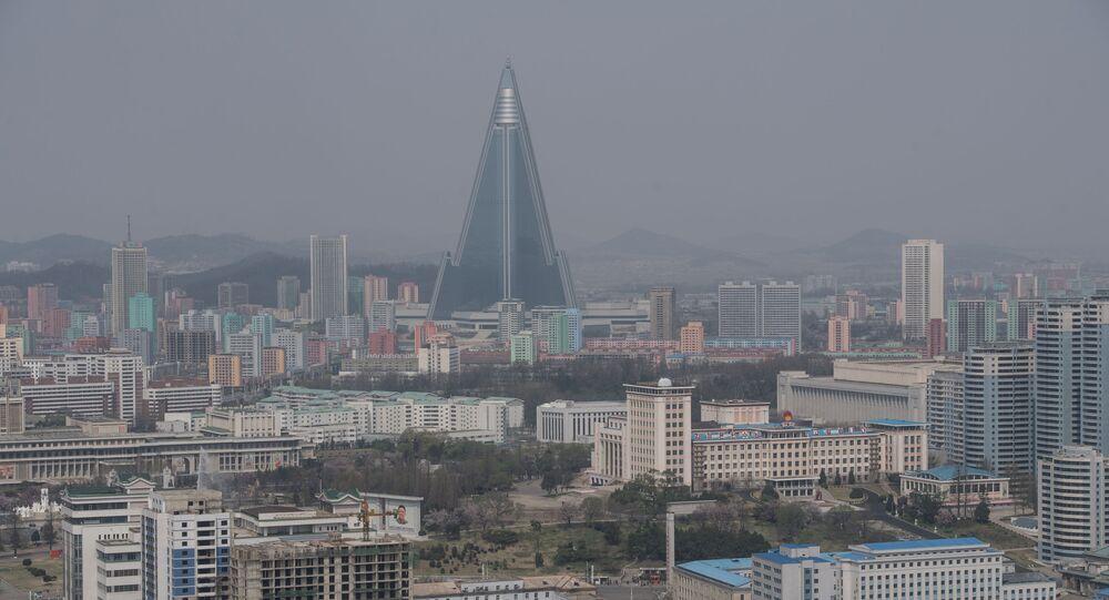 Widok na Pjongjang, Korea Północna
