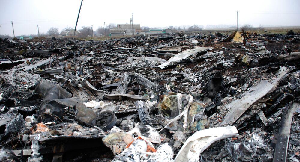 Miejsce katastrofy malezyjskiego Boeinga 777