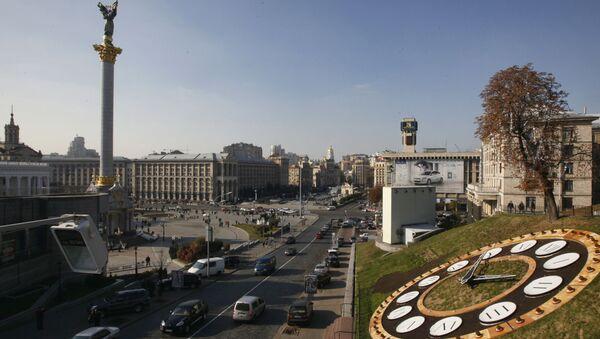 Widok na Plac Niezależności w Kijowie - Sputnik Polska