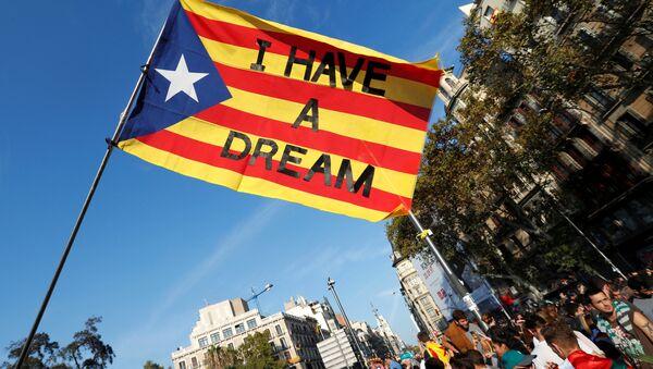 Masowe protesty w Barcelonie - Sputnik Polska
