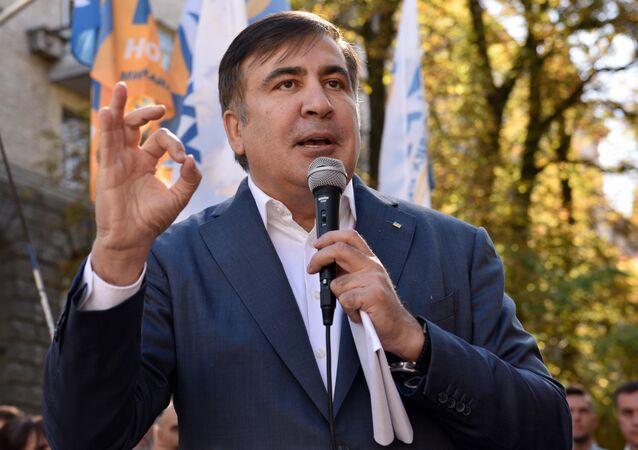 Były prezydent Gruzji, były gubernator obwodu odesskiego Michaił Saakaszwili