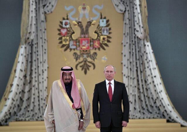 Władimir Putin i król Arabii Saudyjskiej
