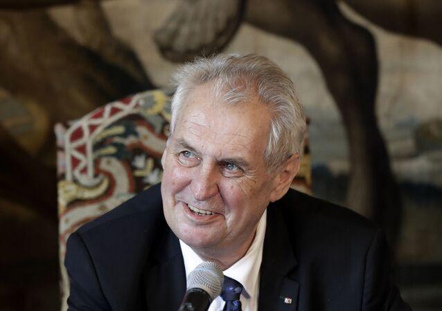 Prezydent Czech Milosz Zeman