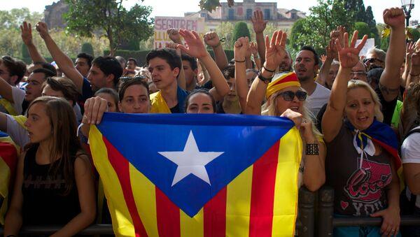 Zwolennicy oddzielenia się Katalonii od Hiszpanii - Sputnik Polska