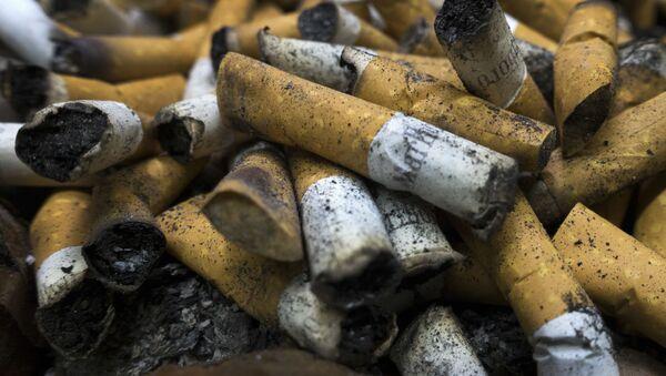 Wypalone papierosy - Sputnik Polska