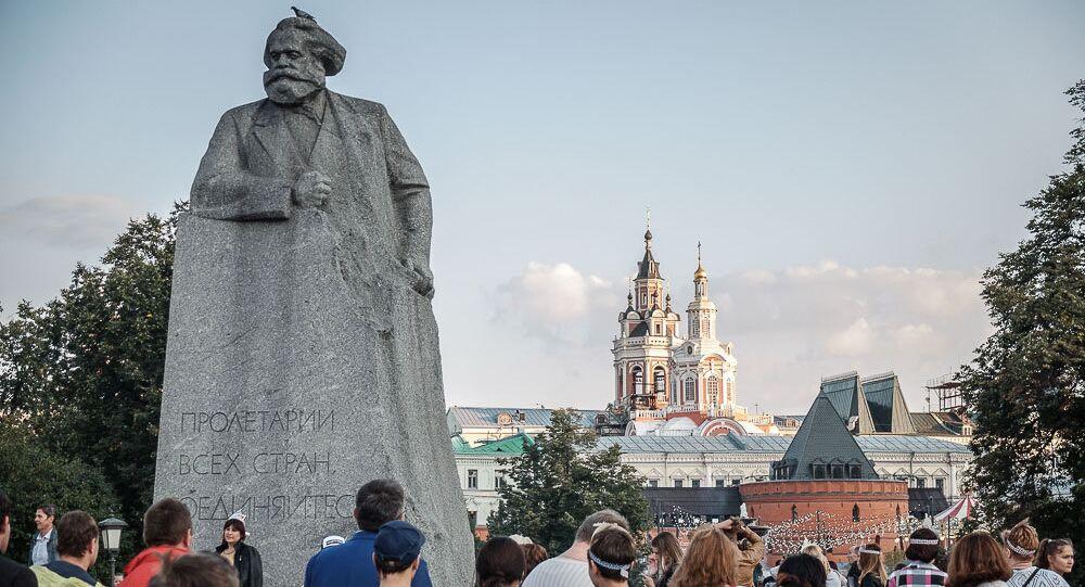 Moskwa oczami Polaka. Pomnik Karola Marksa na Placu Teatralnym