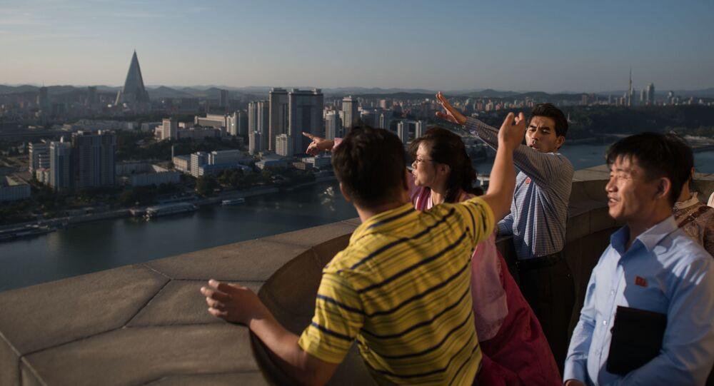 Turyści w Pjongjang