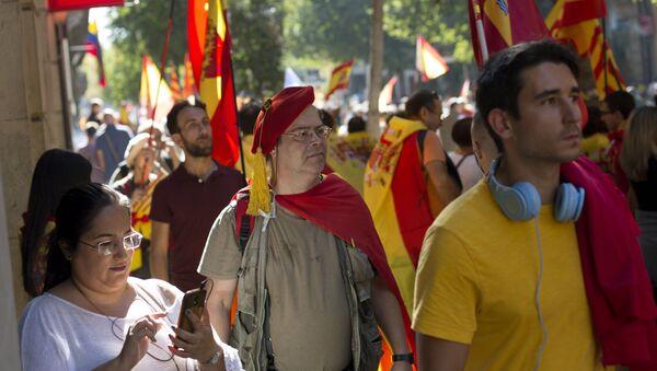 Akcja poparcia dla jedności Hiszpanii w Barcelonie - Sputnik Polska