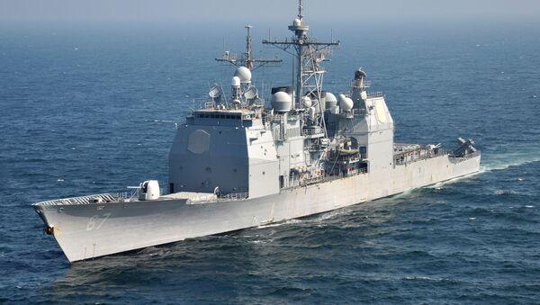 Krążownik USS Shiloh VII Floty marynarki wojennej Stanów Zjednoczonych - Sputnik Polska