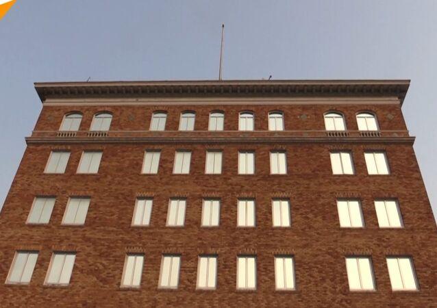 Rosyjska flaga zniknęła z dachu konulatu
