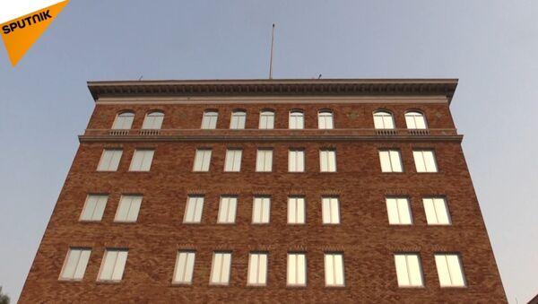 Rosyjska flaga zniknęła z dachu konulatu - Sputnik Polska
