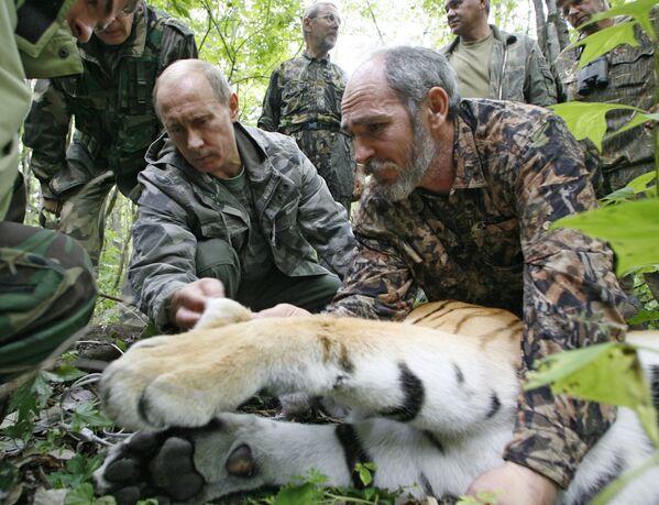 Władimir Putin w rezerwacie przyrody Ussuri - Sputnik Polska