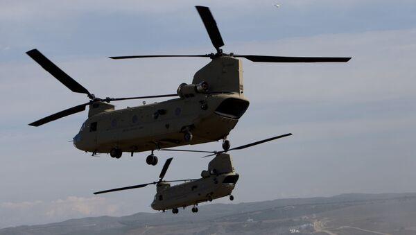 Amerykańskie wojskowe śmigłowce transportowe CH-47 Chinook - Sputnik Polska
