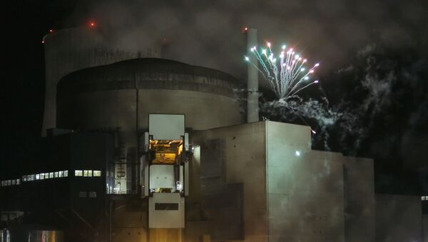 Grupa aktywistów Greenpeace odpaliła fajerwerki na terytorium działającej elektrowni atomowej Cattenom w północno-wschodniej Francji - Sputnik Polska