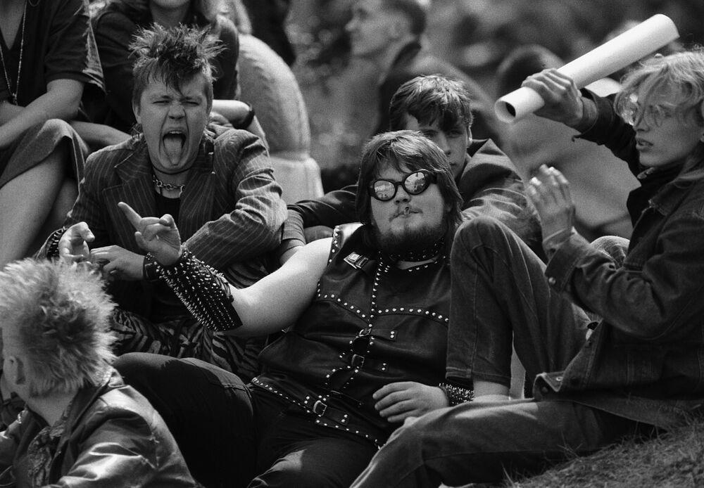 Metalowcy na festiwalu Dni Lekkiej Muzyki w Tartu, Estońska Demokratyczna Republika Ludowa, 1987 rok