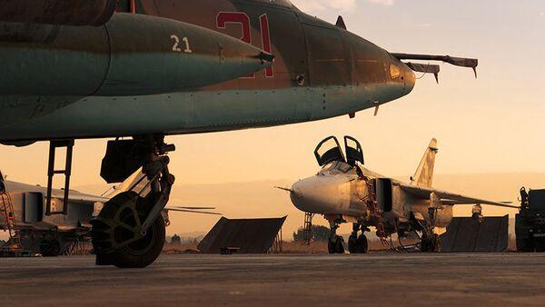 Samoloty Sił Powietrzno-Kosmicznych Rosji w bazie lotniczej Hmeimim - Sputnik Polska