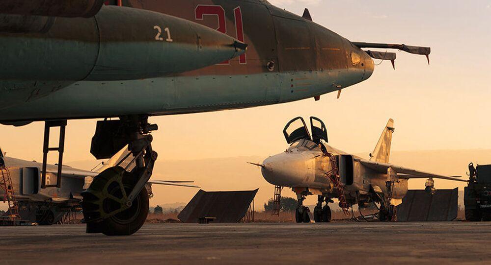 Samoloty Sił Powietrzno-Kosmicznych Rosji w bazie lotniczej Hmeimim